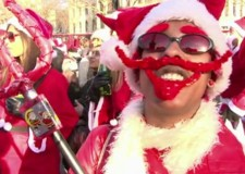 Santacon: the first of ten Random Acts made by Leah Borromeo for Channel 4's news short-form arts strand.
